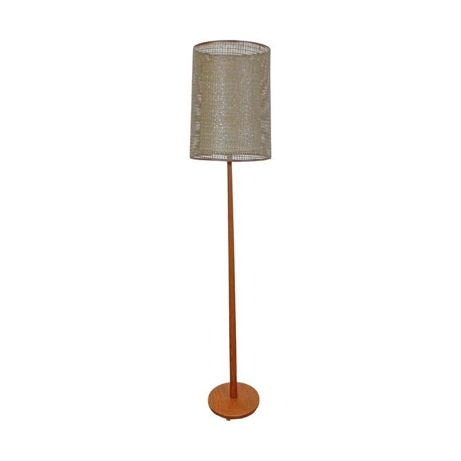 Mid-Century Modern Scandinavian George Kovacs Double Shade Teak Floor Lamp by AnnexMarketplace