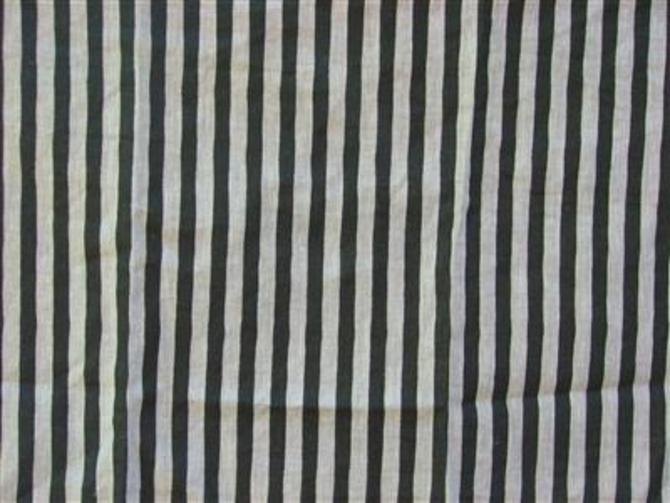 Ticking Stripe in Black and Oatmeal
