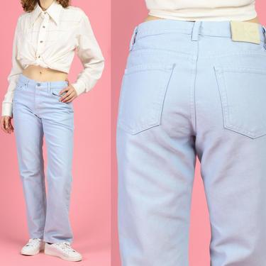 90s Calvin Klein Baby Blue Jeans - Medium | Vintage CK Denim High Rise Straight Leg Pants by FlyingAppleVintage