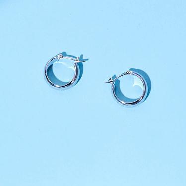 Mini Latch Hoops - Silver