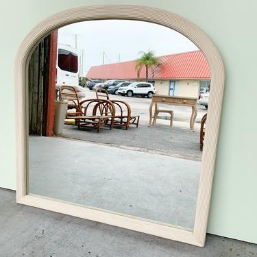 Large Split Reed Rattan Arch Mirror