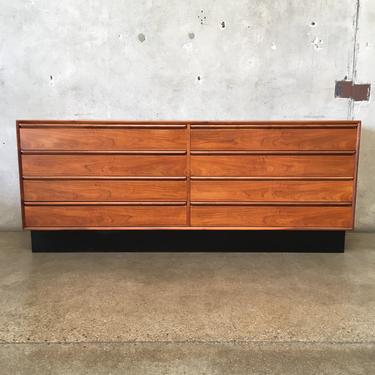 Mid Century Teak Eight Drawer Dresser by Westnofa