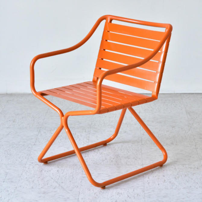 Orange Vintage Outdoor Chair