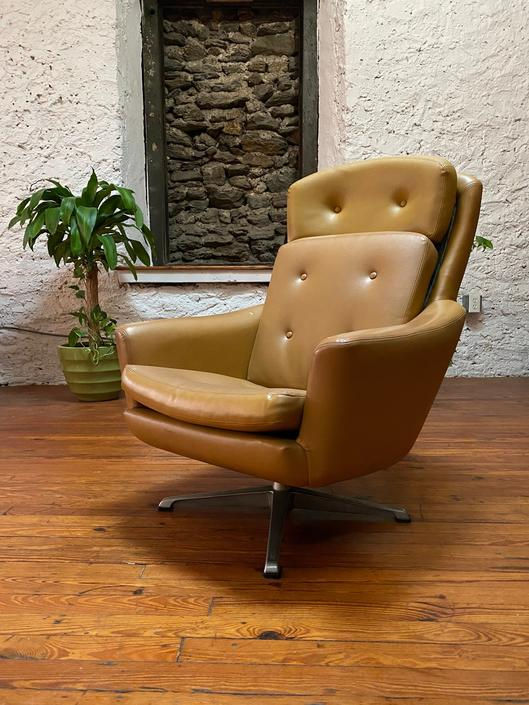 Mid century lounge chair Overman arm chair mid century Scandinavian lounge chair by VintaDelphia