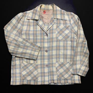 Vintage Women's 1940s GRAFF California Wear Wool Flannel Jacket ~ M to L ~ Blazer / 49er ~ Plaid ~ Rockabilly ~ Ivy Style / Preppy by SparrowsAndWolves