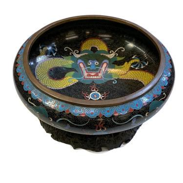 Dragon Cloisonn\u00e9 Bowl with Stand