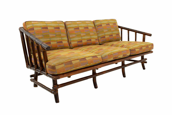 John Wisner for Ficks Reed Style Bamboo Mid Century 3-Seater Sofa - mcm by ModernHill