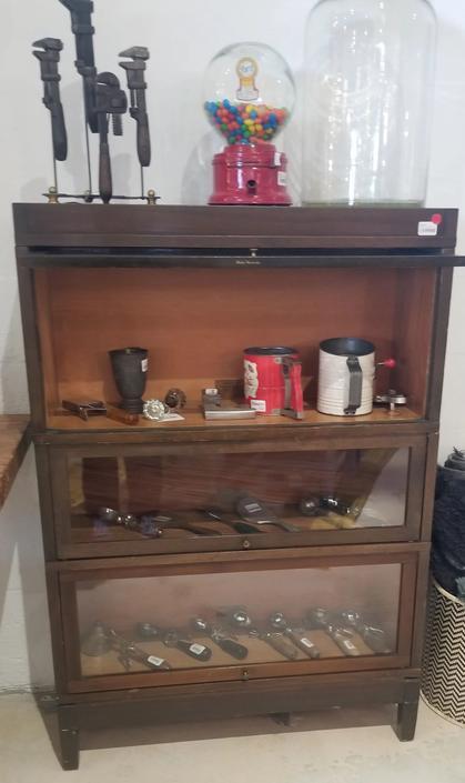 Vintage Oak Globe Wernecke Stacking Barrister Bookcase