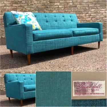 Newly Upholstered Mid-century Sofa