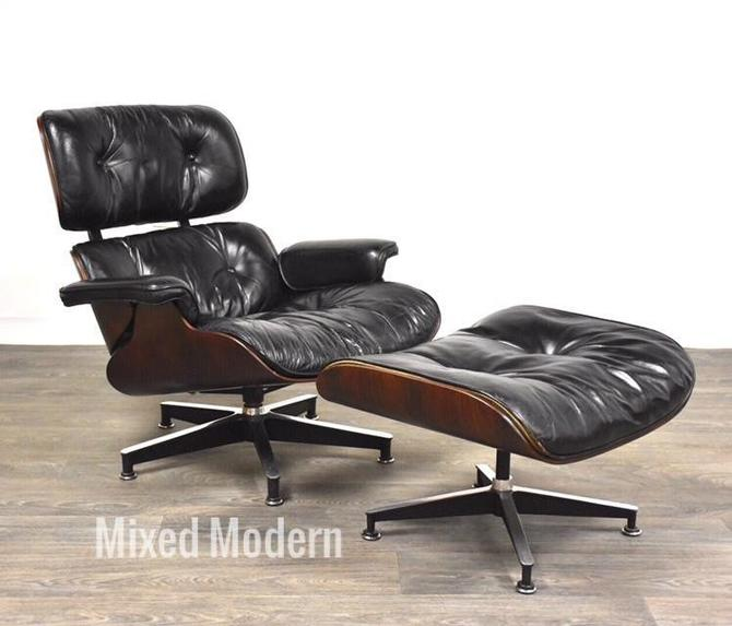 Original Herman Miller Eames Rosewood Lounge Chair & Ottoman by mixedmodern1