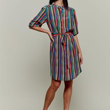 Jenna Dress   Rainbow Lorden Stripe