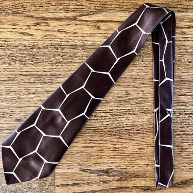 Spectacular 1930s Giraffe Skin Silk Brocade Tie by Cavemanteeks