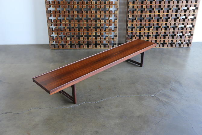 "Torbjorn Afdal for Bruksbo Rosewood ""Korbo"" Bench"