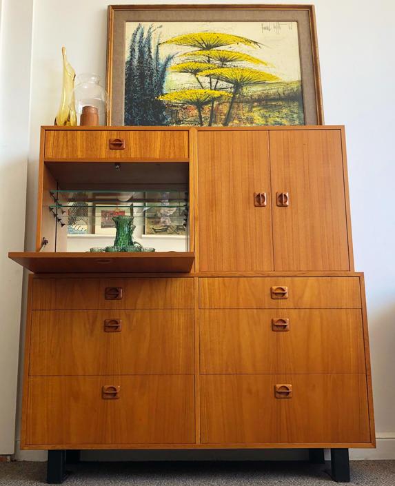 Modular Teak Cabinets With Bar
