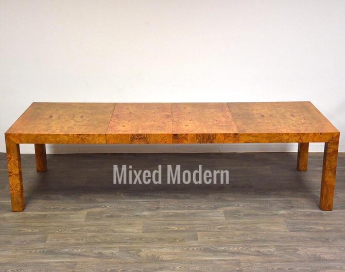 Milo Baughman for Thayer Coggin Burl Dining Table by mixedmodern1