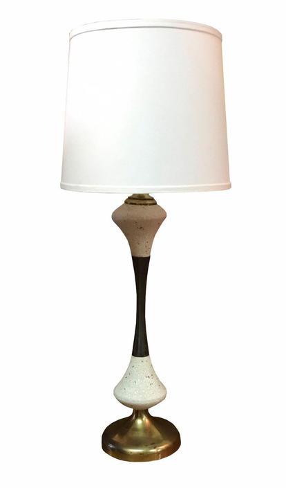 Mid Century bronze and ceramic table lamp by UrbanInteriorsBalt