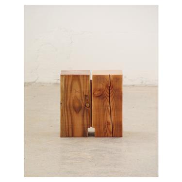 reclaimed wood step stool - corona kiss stool - from salvaged timber - mini table by birdloft