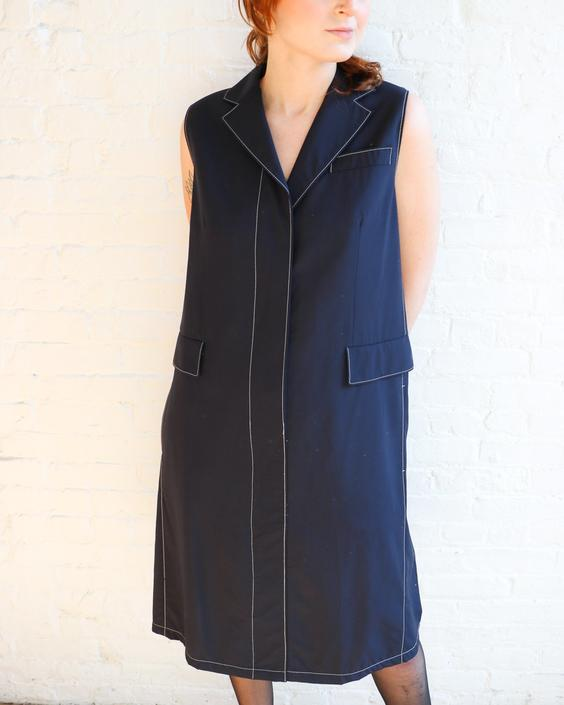 Prada Collared Shirt Dress, Size 40