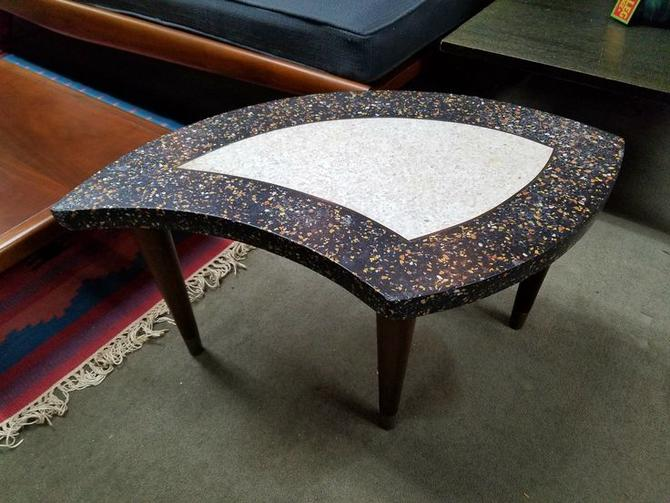 Retro stone top side table