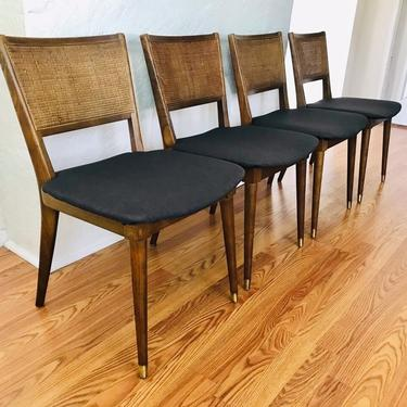 MID CENTURY MODERN Set of 4 Cane Back Dining Chairs #LosAngeles by HouseCandyLA