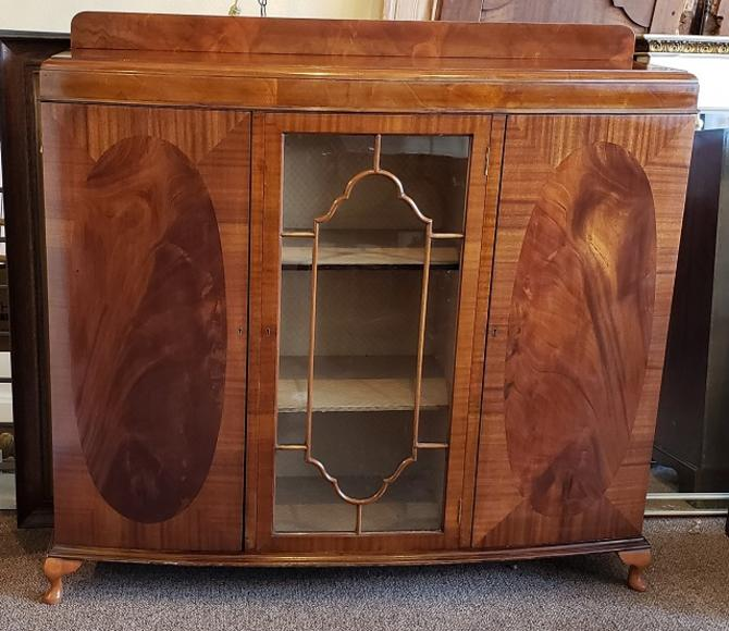 Item #R36 English Traditional Mahogany Display Cabinet c.1930s