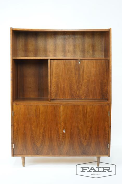 Walnut MCM Secretary  with Storage