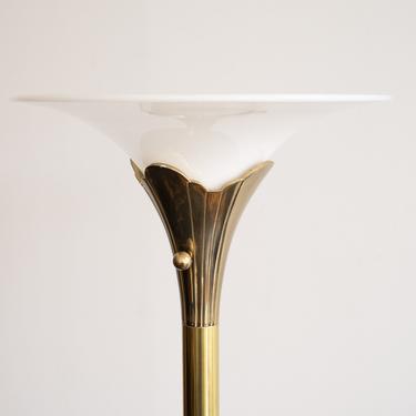 Vintage MCM Stiffel Lotus Floor Lamp in Brass by blinkmodern