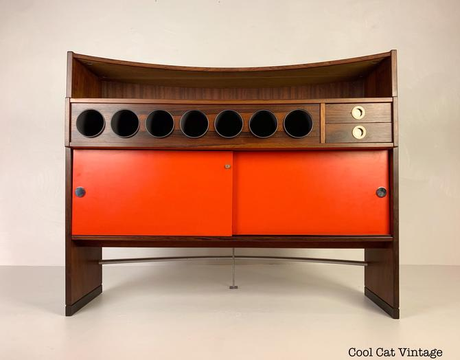 Rosewood Bar by Eric Buch for Dyrlund, Circa 1960s - *Please see notes on shipping before you purchase. by CoolCatVintagePA