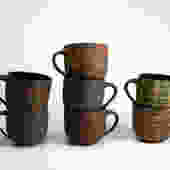Dark Clay Pattern Ware Mug
