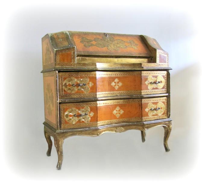 vintage Florentine drop leaf desk by ionesAttic