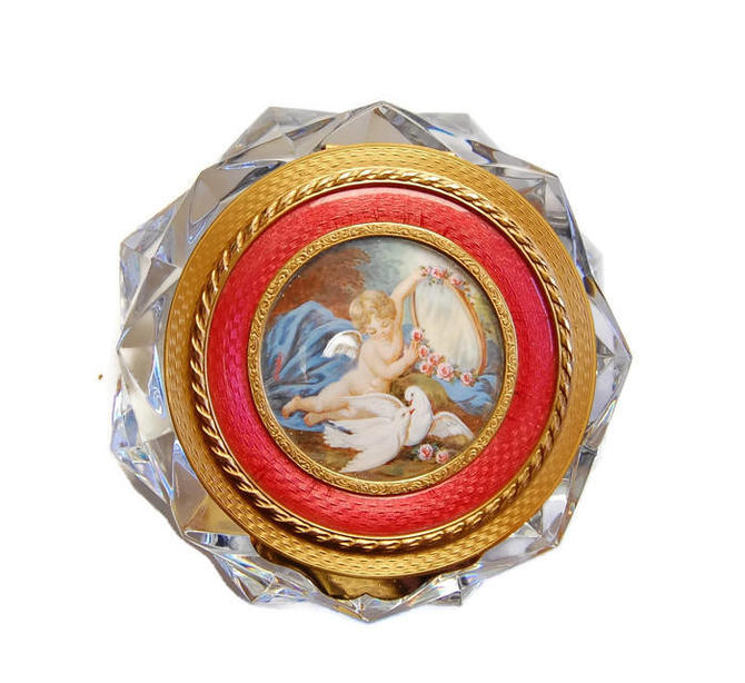 9bc45016548 Baccarat Crystal Sweets Box Vintage Palais du Louvre Marquise de ...