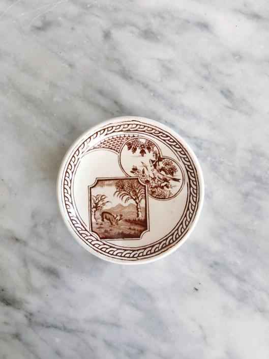 Antique Transferware Butter Pat by AnticaMarket