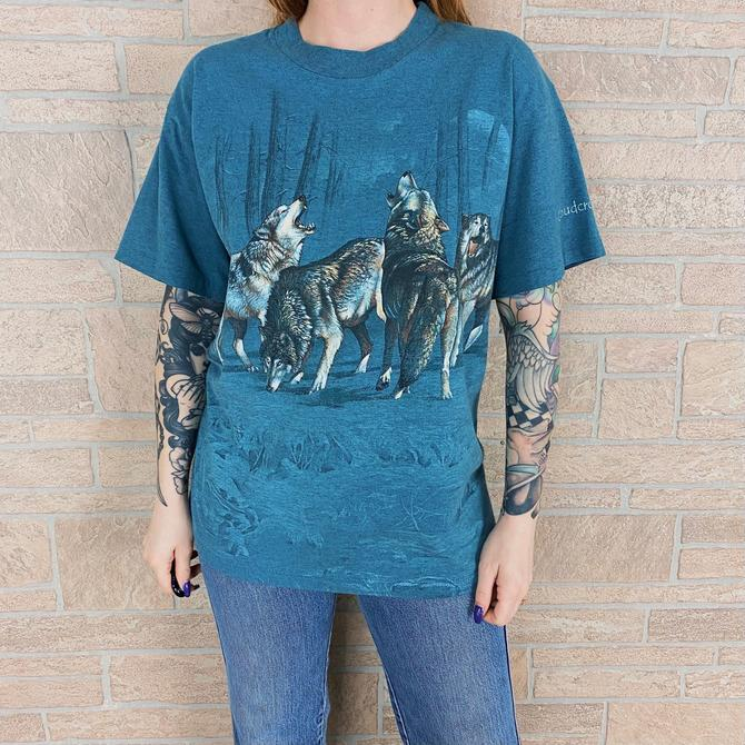90's Cloudcroft New Mexico Wilderness Wolves Travel Tee by NoteworthyGarments