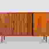 ON HOLD****Walnut Credenza with Tambour Doors by Milo Baughman for Glenn of California