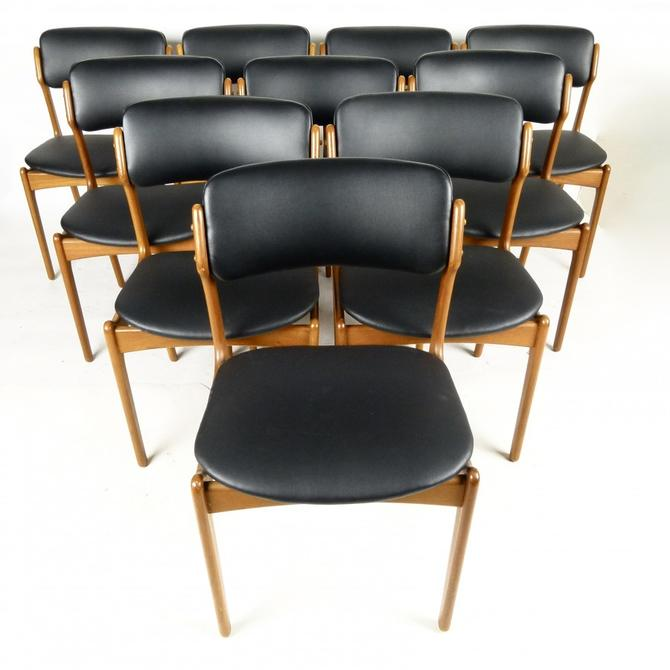 Set of 10 Teak Erik Buch Dining Chairs