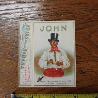 Black Americana John Cigarette box