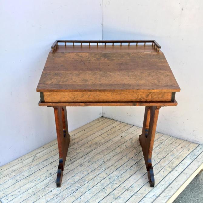 Antique Fir Lift-Top Desk