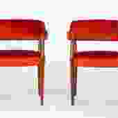 Pair of American-Made Armchairs by J.G. Furniture Co.