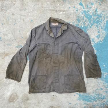 Vintage 50s HBT Shop Chorecoat Garage Workwear by NorthGroveAntiques