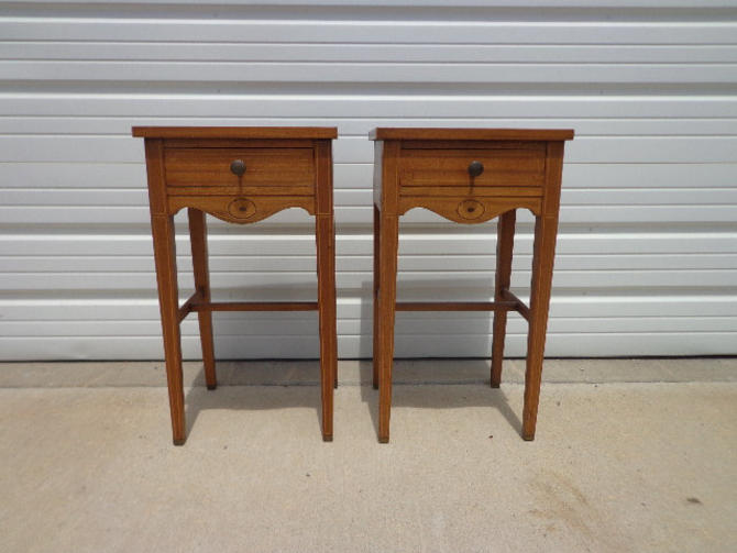Brilliant Antique Nightstands Pair Of Bedside Tables Wood Vintage Regency Bedroom Furniture Shabby Chic Storage Country French Provincial Victorian By Beutiful Home Inspiration Ommitmahrainfo