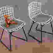 Pair of Baby Harry Bertoia Chairs for Knoll by openairmodern
