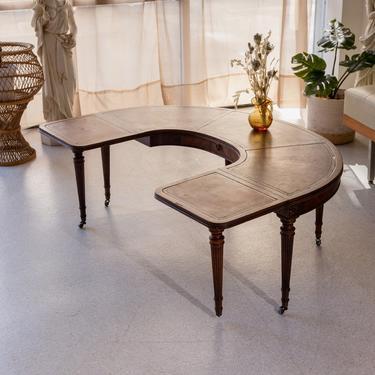 Vintage Half Moon Coffee Table