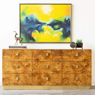 Founders Mid-Century Modern Burlwood Dresser by formermodern