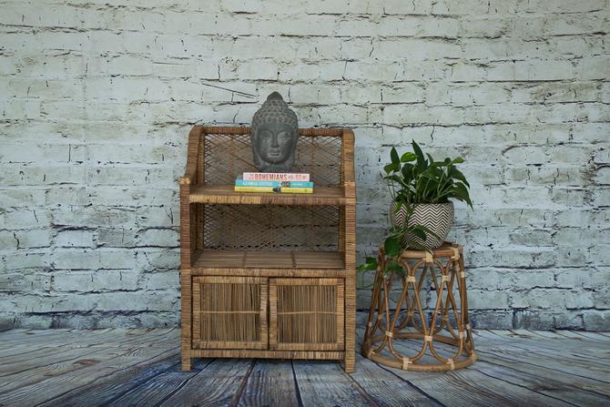 SHIPPING NOT FREE!!! Wicker cabinet/ Wicker shelf by WorldofWicker