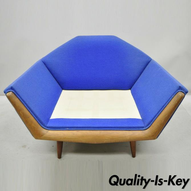 Mid Century Modern Adrian Pearsall Oversized Sculptural Walnut Lounge Club Chair