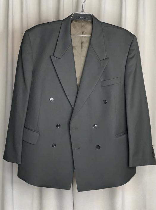 Vintage Forest Green Double Breasted Blazer
