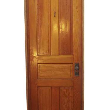 Antique 5 Pane Yellow Pine Frame Passage Door 81.5 x 30.125