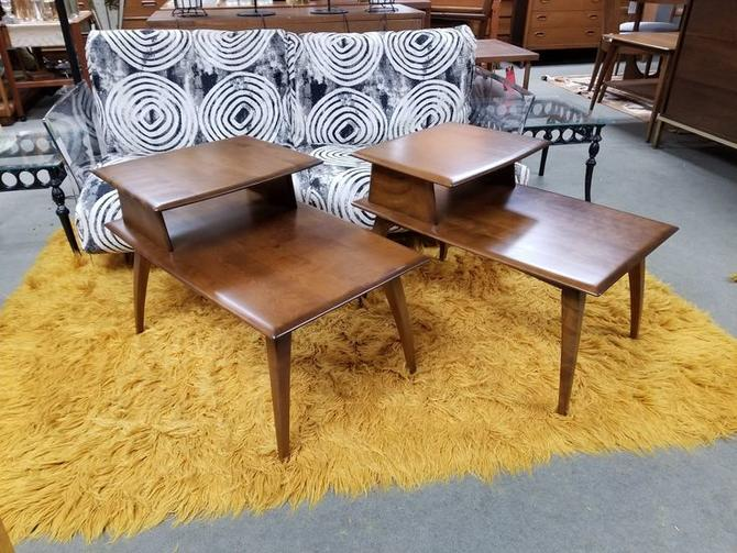 Pair of Mid-Century Modern step tables by Heywood Wakefield