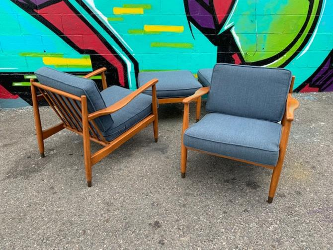 (2) Folk Ohlsson For Dux Lounge Chairs