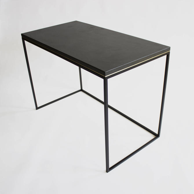 Wilson Concrete and Steel Modern Minimalist Desk by CrumpandKwash